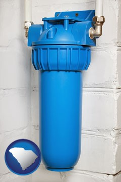 a water treatment filter - with South Carolina icon