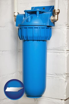 a water treatment filter - with Tennessee icon