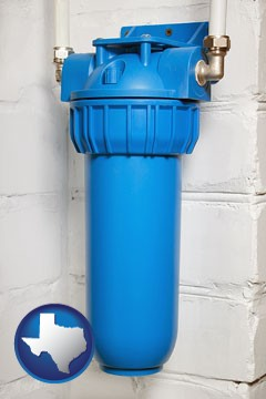 a water treatment filter - with Texas icon