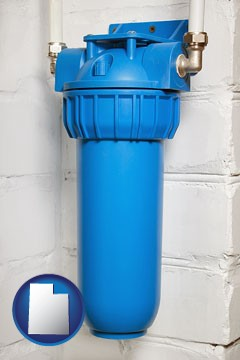 a water treatment filter - with Utah icon