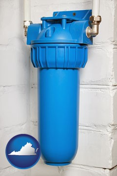 a water treatment filter - with Virginia icon