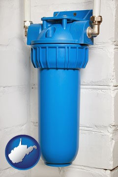 a water treatment filter - with West Virginia icon