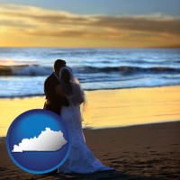 kentucky a beach wedding at sunset