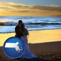 massachusetts a beach wedding at sunset