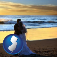 new-jersey a beach wedding at sunset