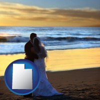 utah a beach wedding at sunset