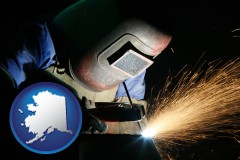 alaska a welder using welding equipment
