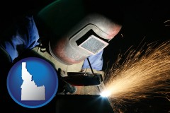 idaho a welder using welding equipment
