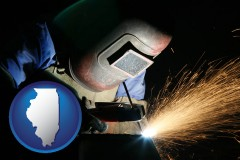 illinois a welder using welding equipment