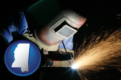 mississippi a welder using welding equipment