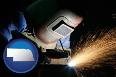 nebraska a welder using welding equipment