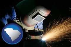 south-carolina a welder using welding equipment