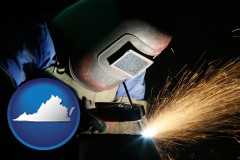 virginia a welder using welding equipment