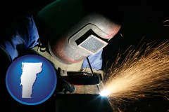 vermont a welder using welding equipment