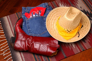 western boots, hat, and jeans