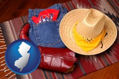 new-jersey western boots, hat, and jeans