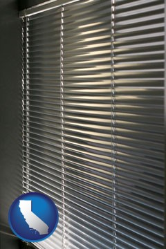 a window covering - with California icon
