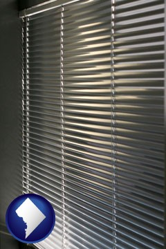 a window covering - with Washington, DC icon