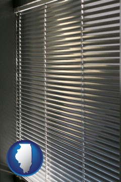 a window covering - with Illinois icon
