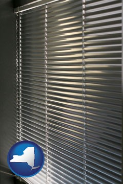 a window covering - with New York icon