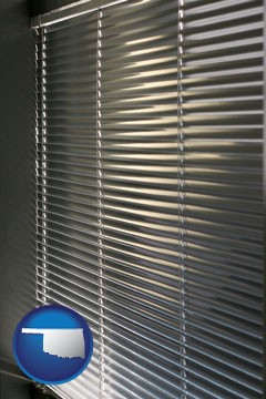 a window covering - with Oklahoma icon