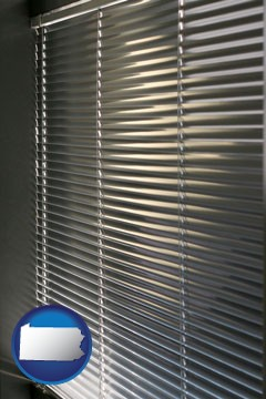 a window covering - with Pennsylvania icon