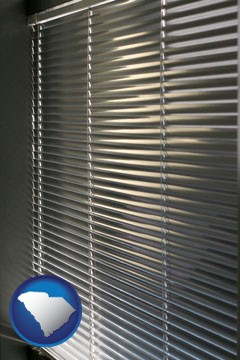 a window covering - with South Carolina icon