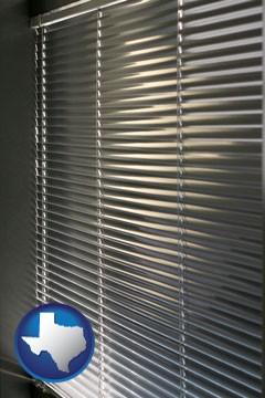 a window covering - with Texas icon