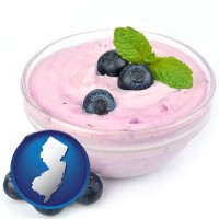 new-jersey blueberry yogurt with fresh blueberries