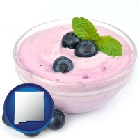 new-mexico blueberry yogurt with fresh blueberries